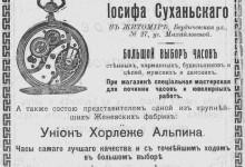 Магазин часов Иосифа Суханьского