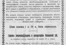 Список населенных мест Волынской губернии